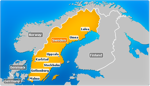 Sweden map